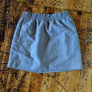 Gray Wool Blend Skirt